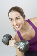 exercise - weights - woman